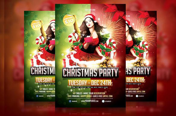 Premium PSD Christmas Party Flyer Template
