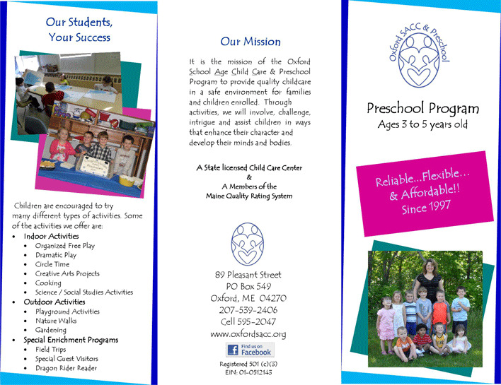 Preschool Brochure 3