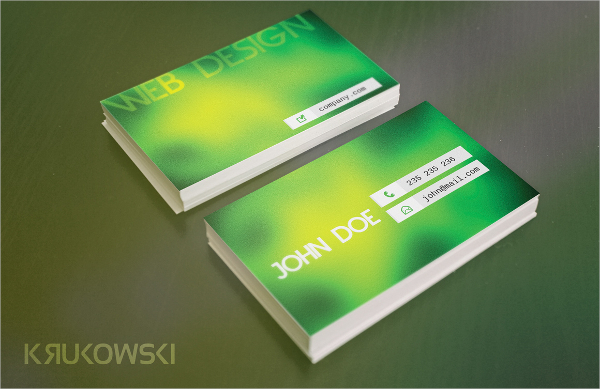 Presentation Glossy Business Card Template