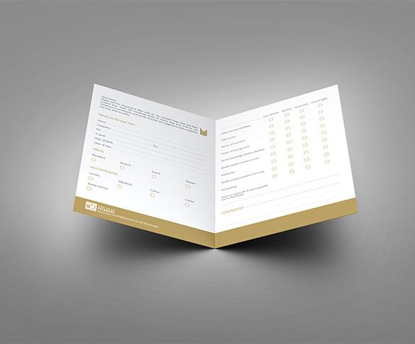Print Design Guest Comment Card Download