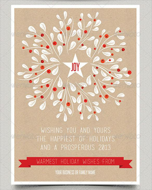 Print Holiday Card Template - $5
