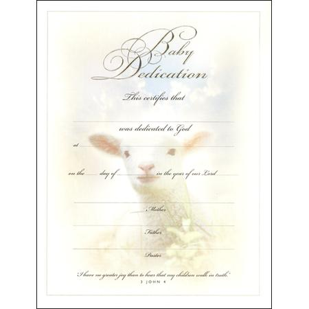 Baby Dedication Certificate Template | Download Free & Premium