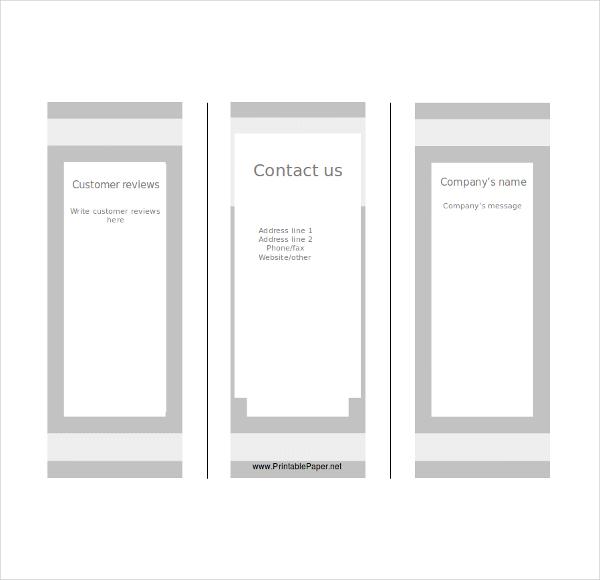 Printable Blank Brochure Tri Fold  Blank Brochure