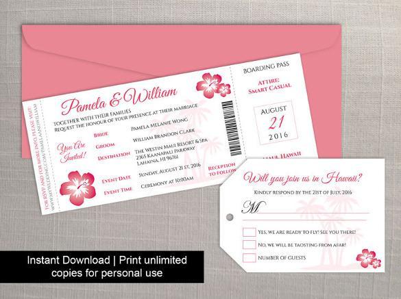 Printable Boarding Pass Invitation Template