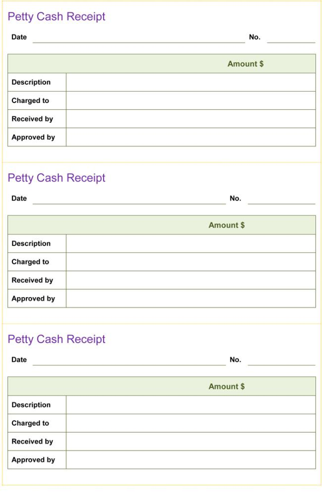 Printable Cash Receipt Template Free