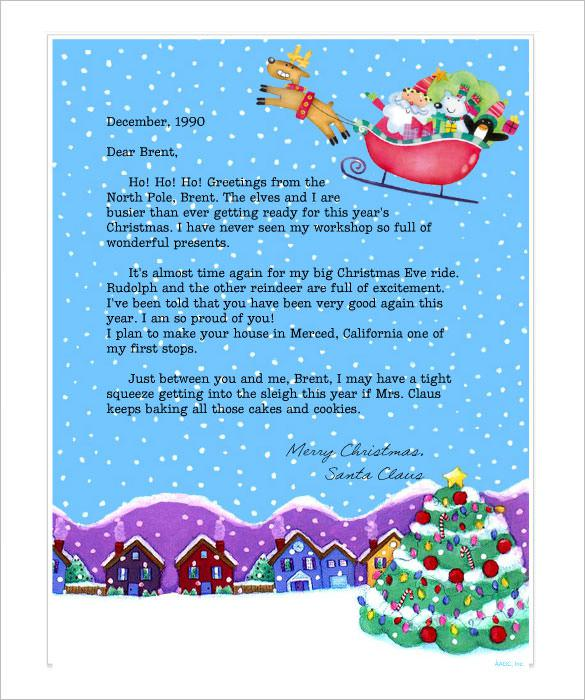 Printable Christmas Stationery Letter From Santa Online