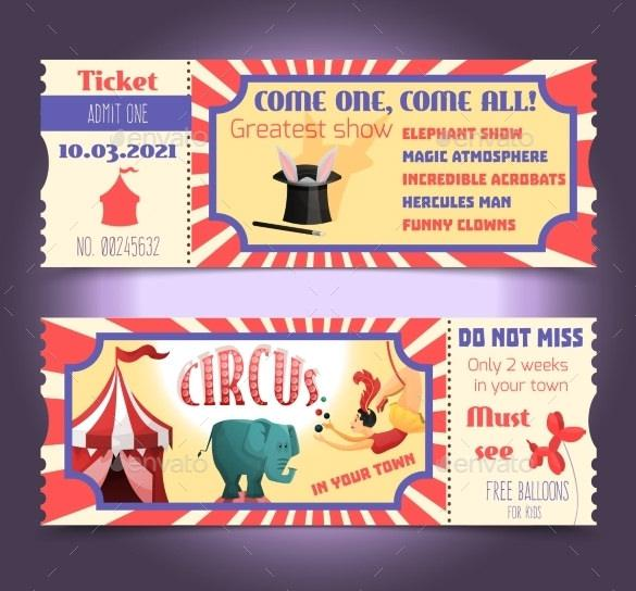 Printable Circus Ticket for Kids