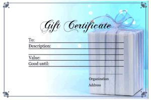 Printable Custom Personalized Birthday Gift Certificate