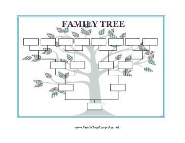 Printable Family Genogram Template