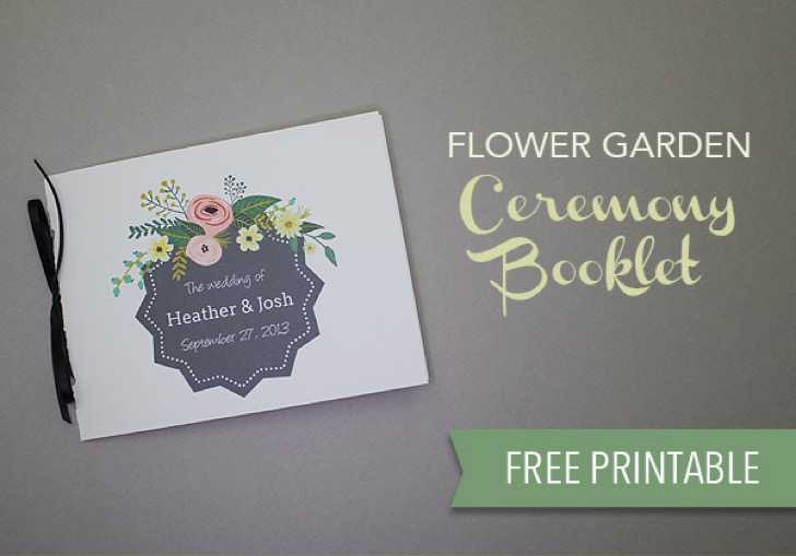 free download wedding programs