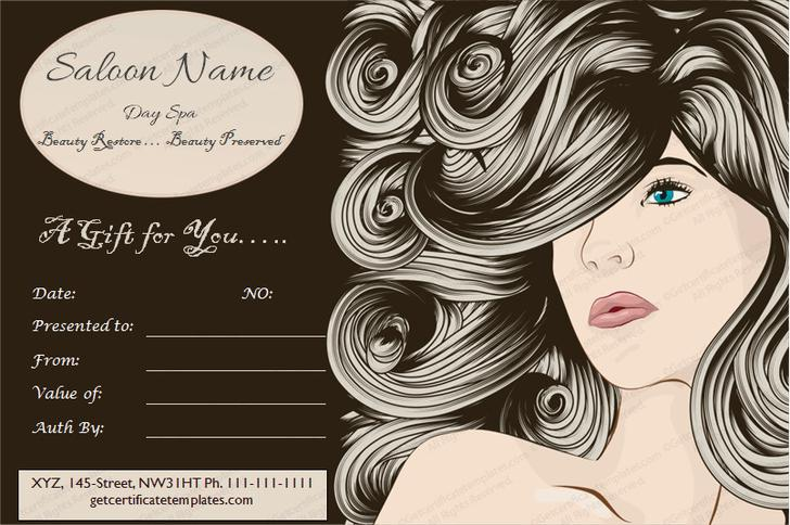 free printable hair salon gift certificate template - gift certificate template download free premium