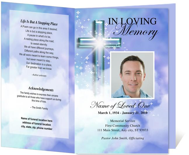Doc1034800 Free Printable Obituary Program Template Free – Free Funeral Programs