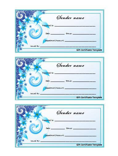 decorating christmas gift certificate template
