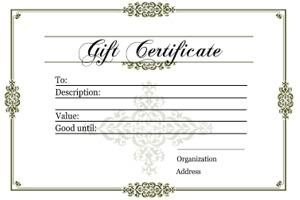 Printable Gift Certificate Template Pdf Format