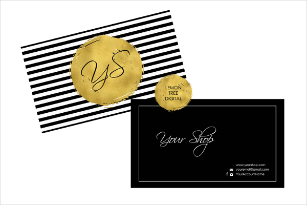 Printable Gold Foil Business Card