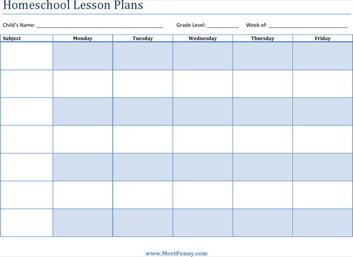 Printable Lesson Plan Templates Download Free Amp Premium