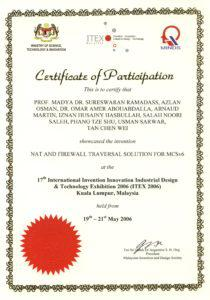 Printable Participant Certificate Template