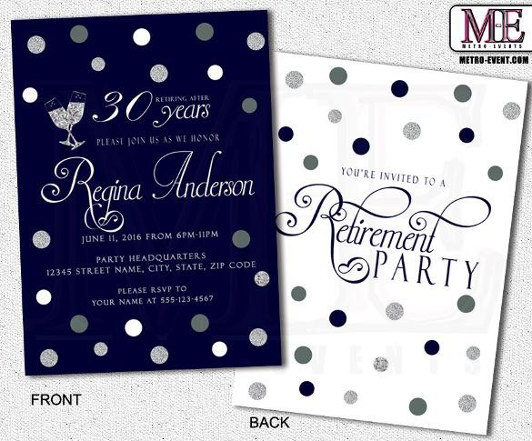 Printable Retirement Party Invitations