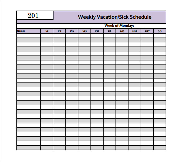 Holiday Schedule Template  Download Free  Premium Templates