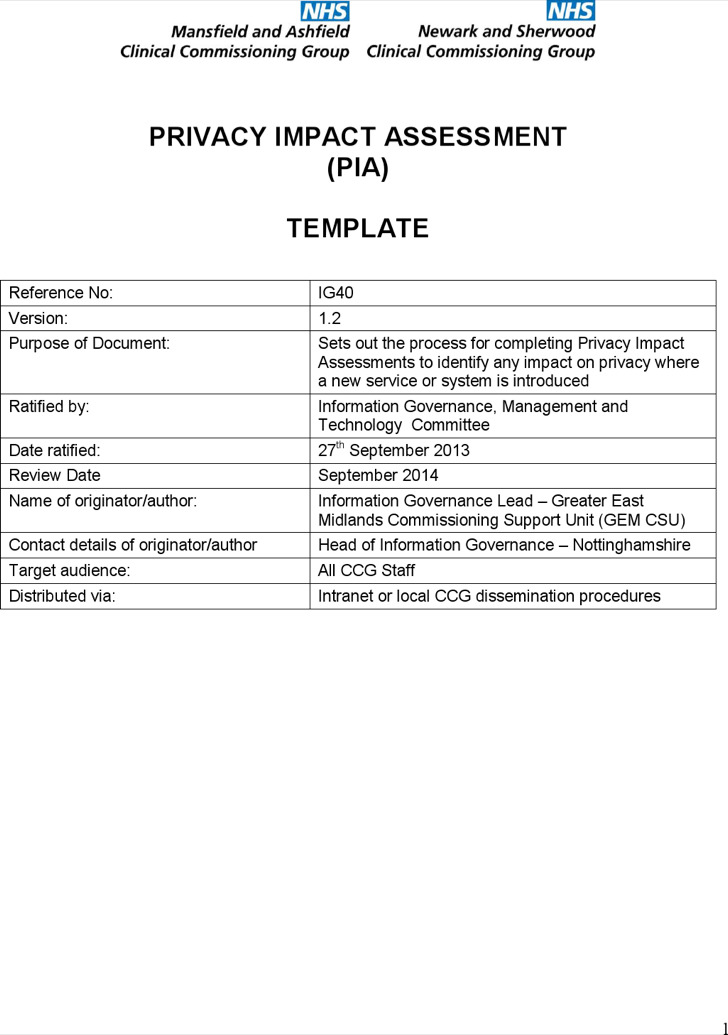 Impact Assessment Templates | Download Free & Premium Templates