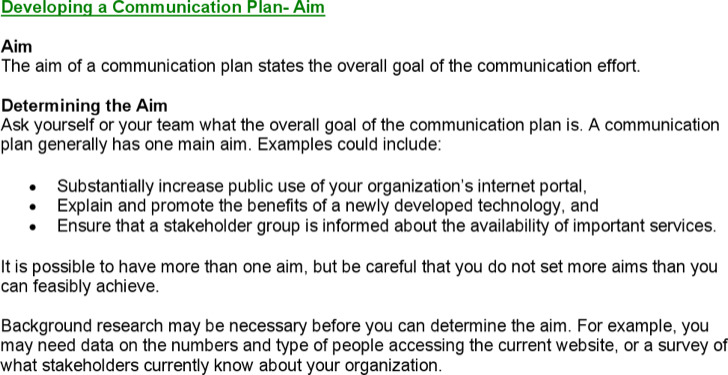Product Launch Communication Plan Template