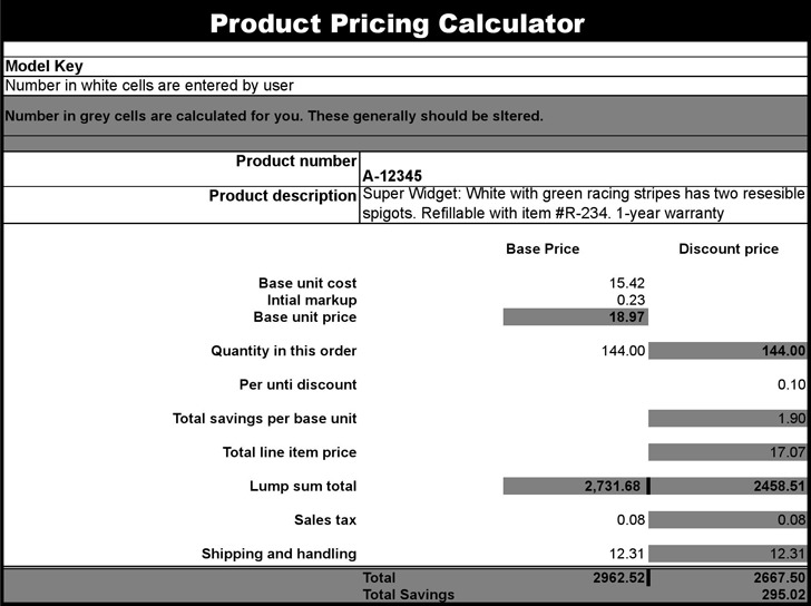 Product Pricing Calculator  Download Free  Premium Templates
