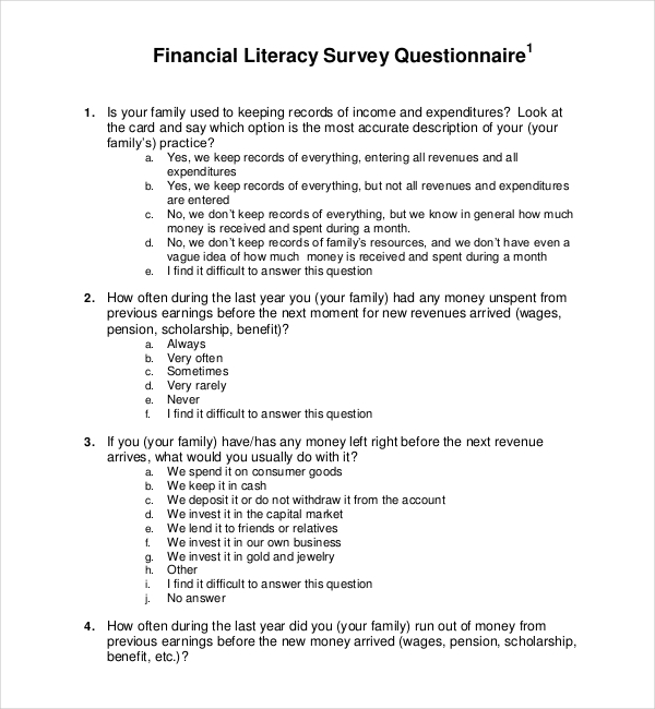 Printable Survey Forms Presentation Survey Template Best Photos