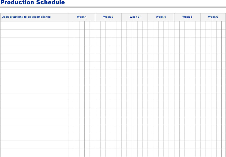 Production Schedule Template  Download Free  Premium Templates