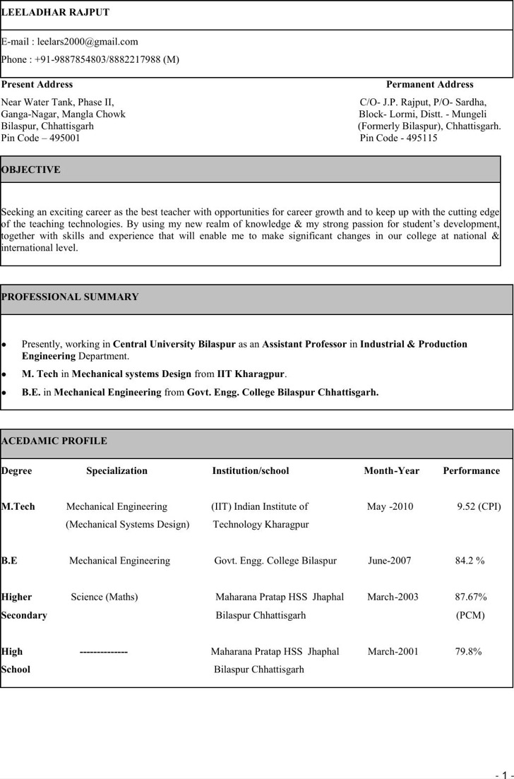 example engineering resume engineer resume sample doc vosvete mechanical engineer resume sample doc examples resumes senior - Auto Performance Engineer Sample Resume