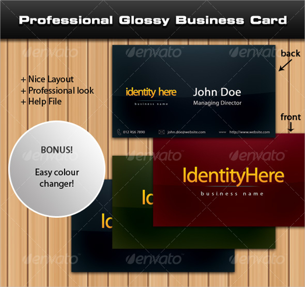 Professional Glossy Business Card Template