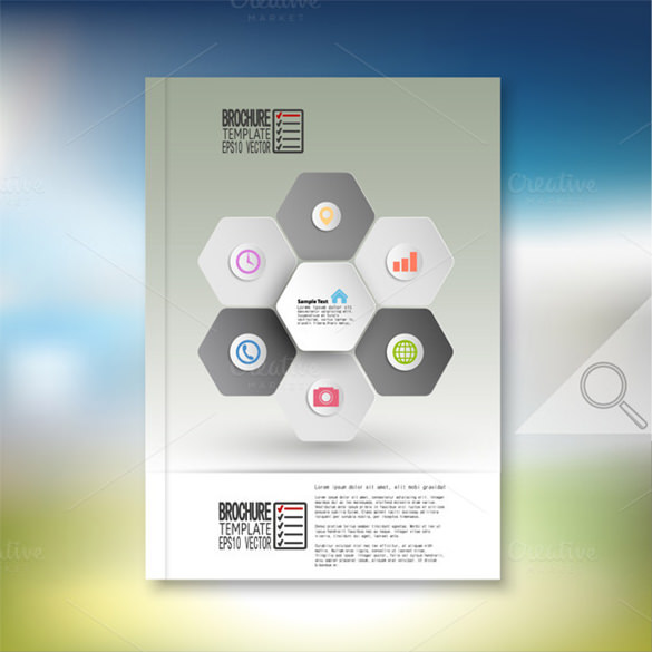 Professional Hexagonal Brochure Template