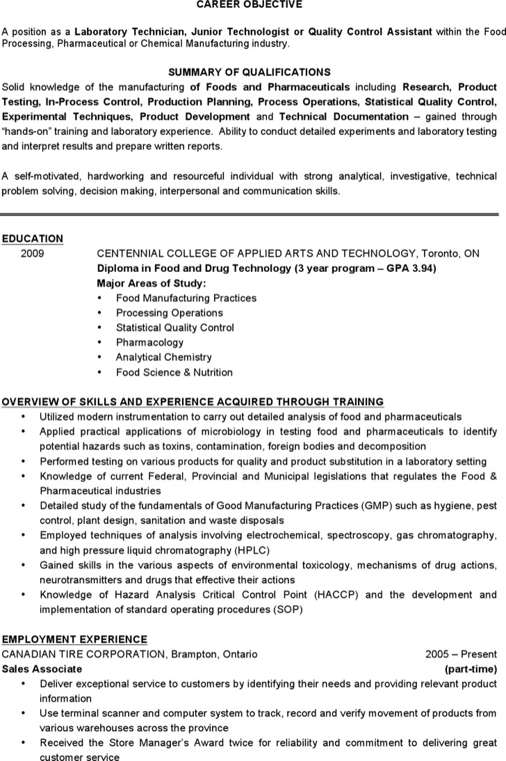 100 lab resume cover letter medical laboratory technologist