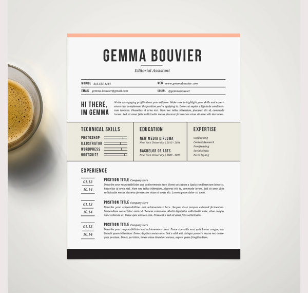 Professional Resume Template and Cover