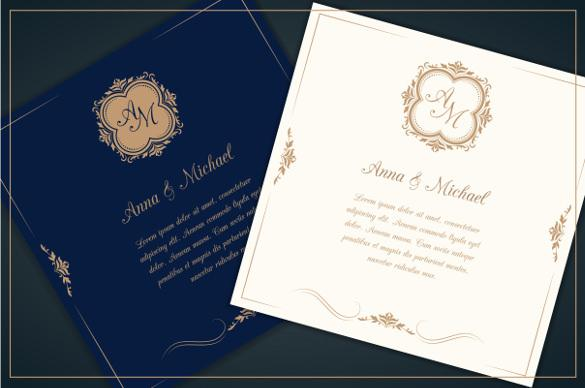 Professional Wedding Invitation Template For