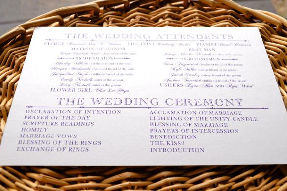 Wedding Program Templates | Download Free & Premium Templates ...