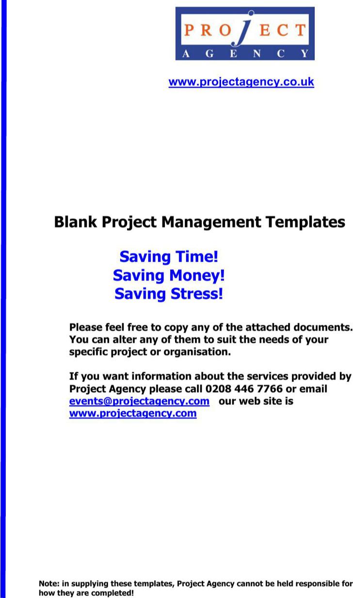 Action Plan Templates – Project Management Action Plan Template