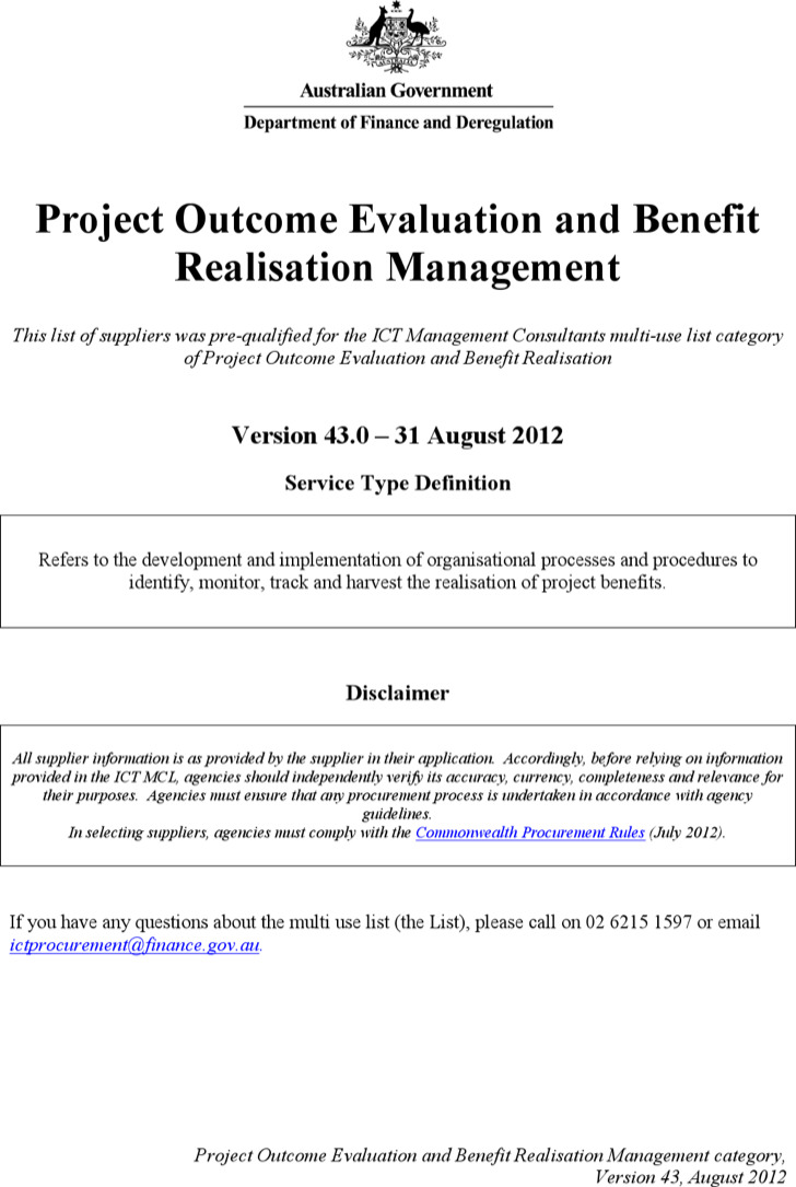 Project Outcome Evaluati