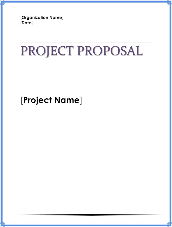 Project Proposal Template  Download Free  Premium Templates