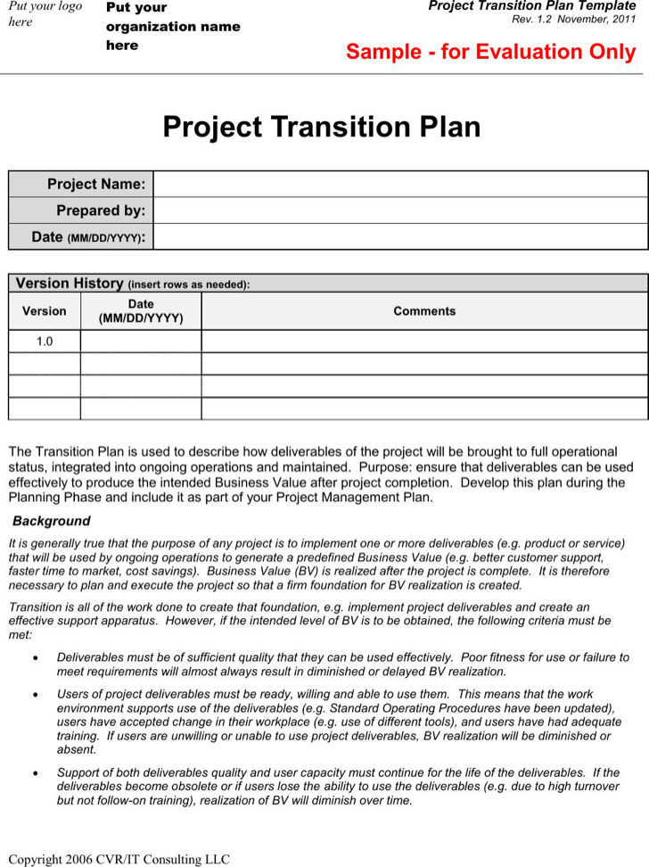 Project Plan Templates | Download Free & Premium Templates, Forms