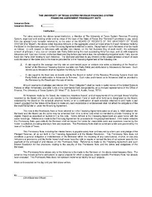 Promissory Note Template Texas