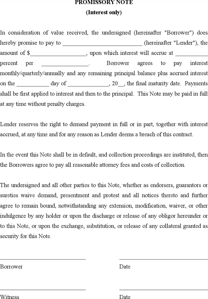 Demand Promissory Note Promissory Note Secured Amortized – Promissory Note Parties