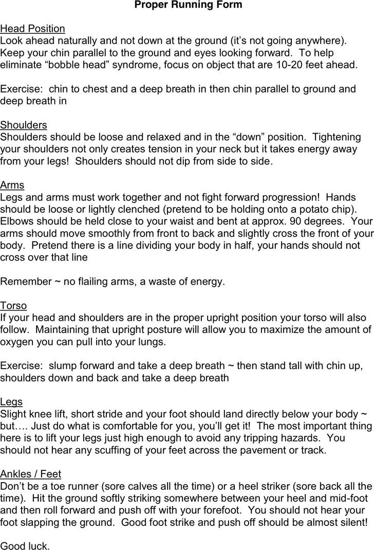 Proper Running Form Guide