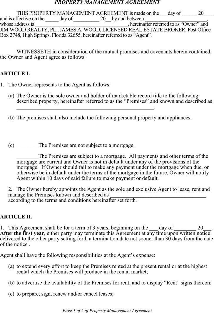 property management agreements - yourway.tk