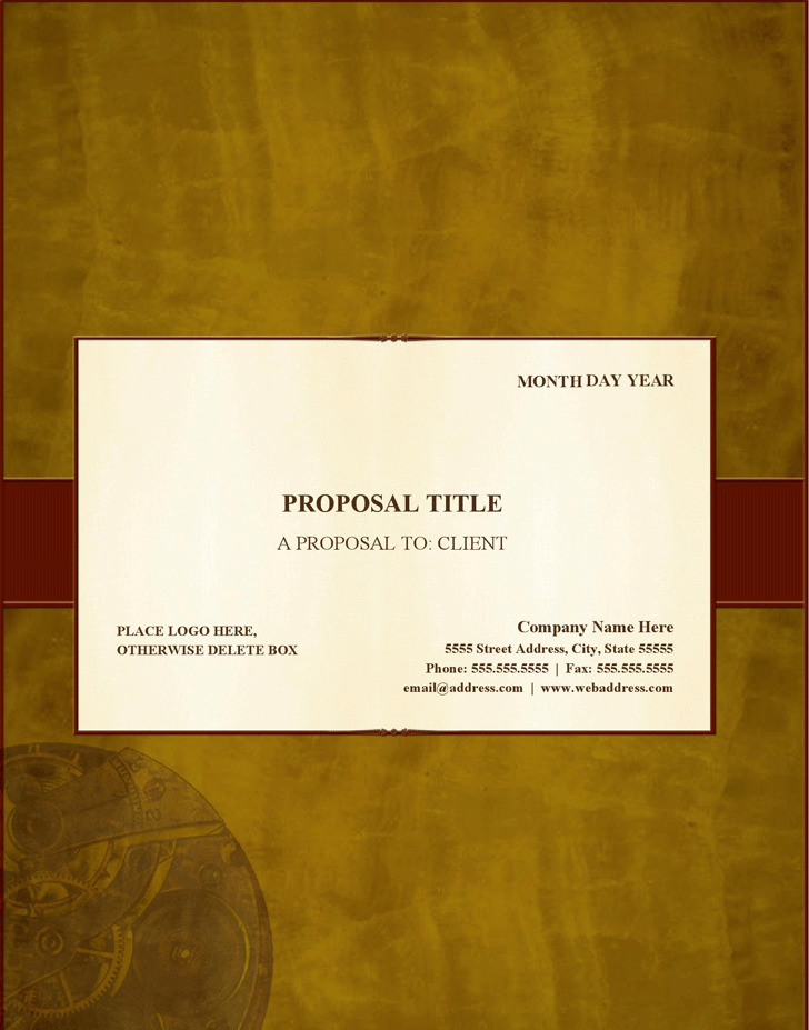 Generic Business Proposal Template  Download Free  Premium