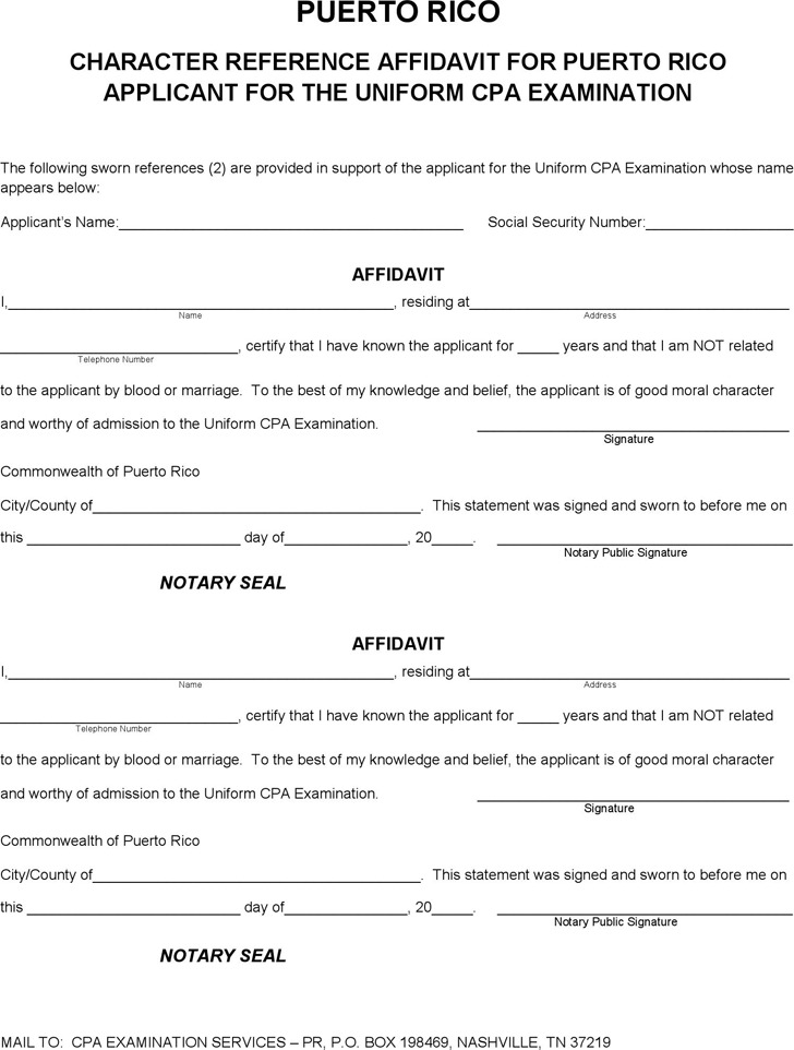 Affidavit Form Free Affidavit Of Marriage Equivalency Affidavit