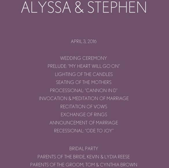 Purple Chevron Wedding Program Template Online Editable