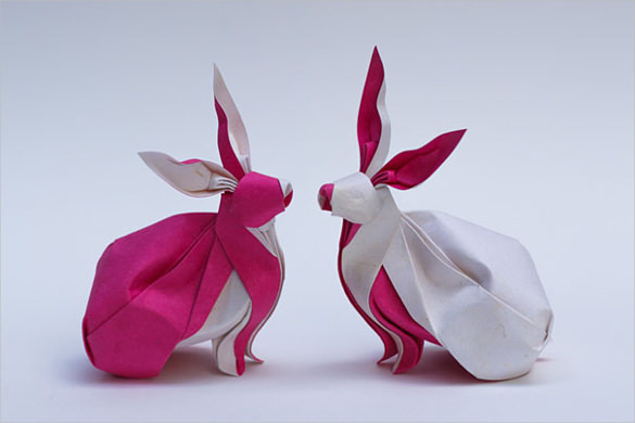 Rabbit Paper Art Design