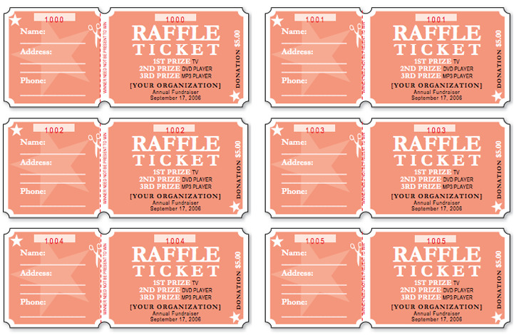 Raffle Ticket Template 1