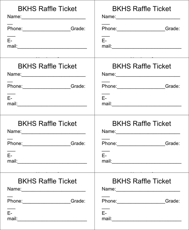 Raffle Ticket Template 3