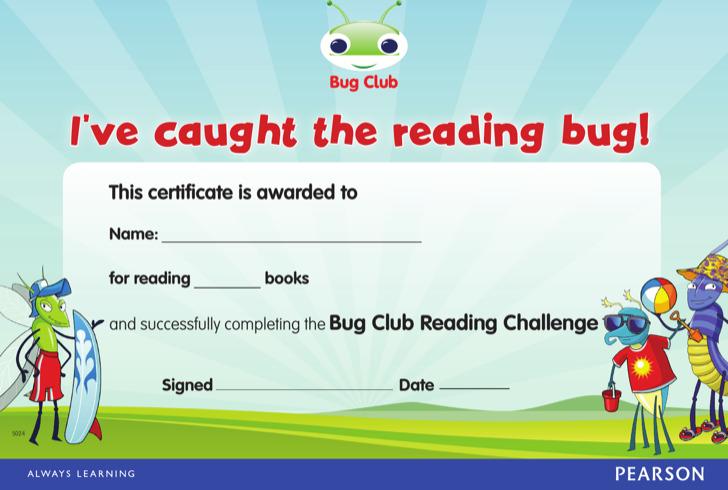 Reading Challenge Certificate